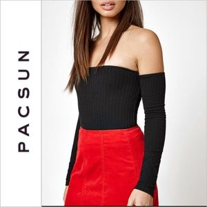 PacSun Kendall Kylie Off The Shoulder Ribbed Top